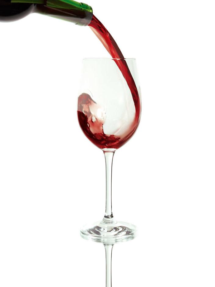 Vinho em copo - Fotografia de Produto